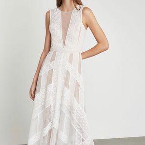 $398 BCBG Andi Lace Illusion Dress